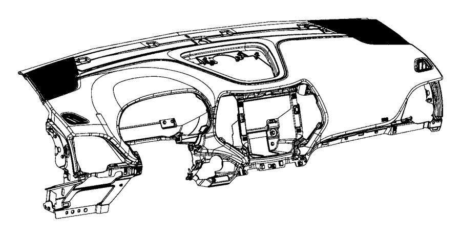 2015 Jeep Cherokee Instrument panel. Base panel. [-x9