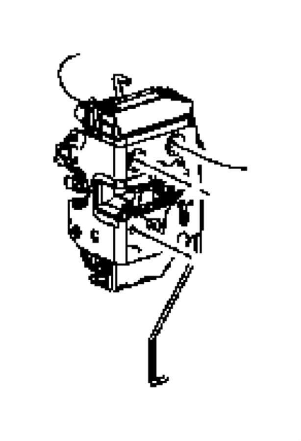 Jeep Wrangler Latch. Swing gate. [je8], manual locks. Door