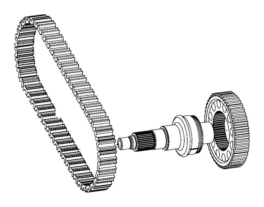 2008 Jeep Wrangler Front output shaft, output shaft