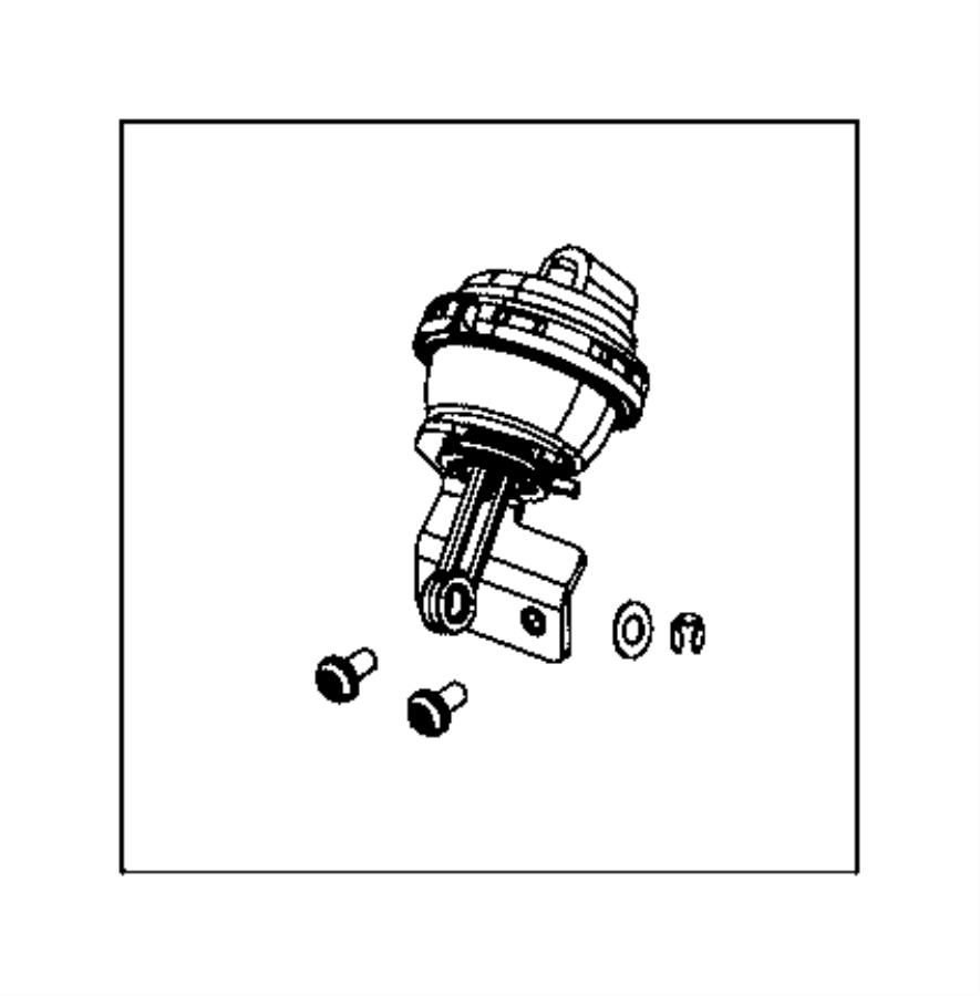 2014 Jeep Grand Cherokee Vacuum actuator. Egr bypass