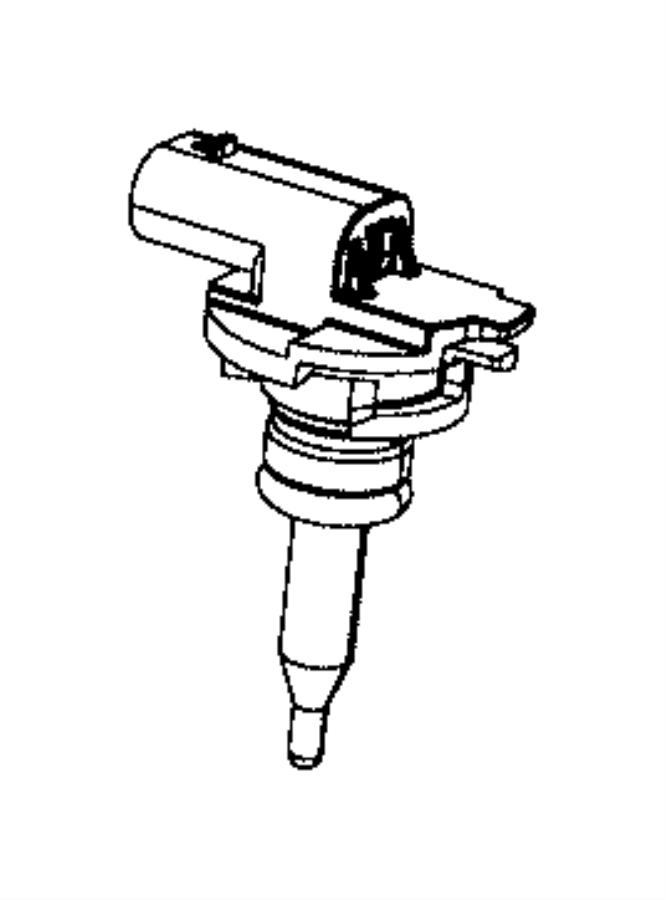 2018 Jeep Wrangler Sensor. Fluid temperature. Thermostat