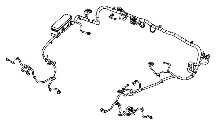 2018 Jeep Wrangler Wiring. Dash. Automatic transmission