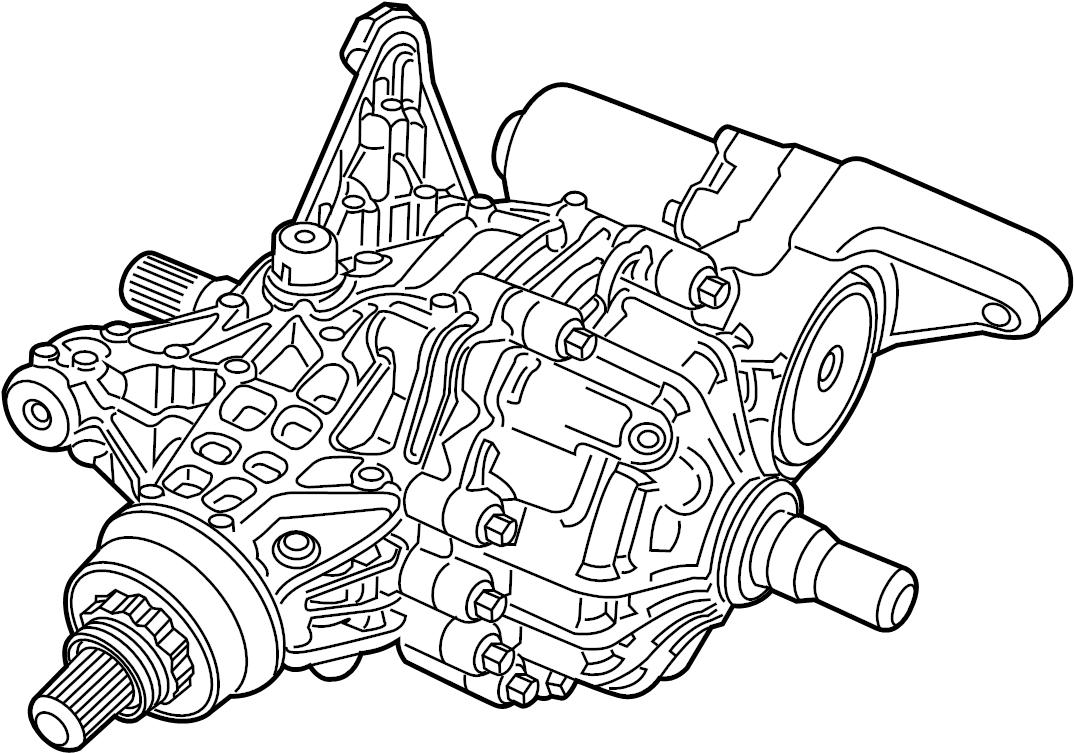 2018 Jeep Grand Cherokee Differential. Rear axle. Elec