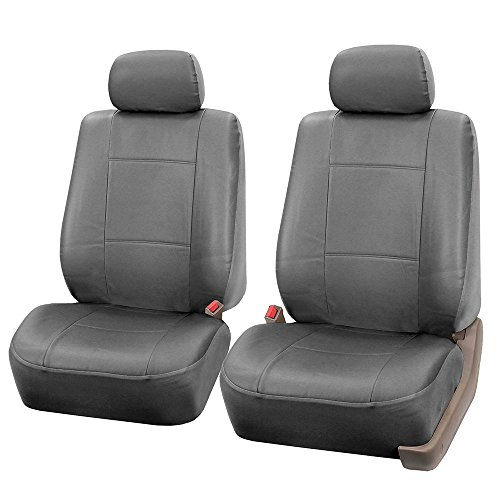or Van Fit Most Car Solid Tan FH Group PU009102 Rome PU Leather Pair Set Car Seat Covers Suv Airbag compatible Truck