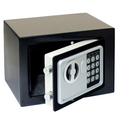8.5L HIGH SECURITY ELECTRONIC STEEL SAFE WITH KEY PAD ...