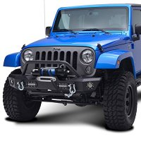 E-Autogrilles 51-0331 07-15 Jeep Wrangler JK Offroad Front Bumper with LED Lights
