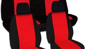 Jeep Wrangler JK 2011 To 2016 Two Tone Seat Covers Black And