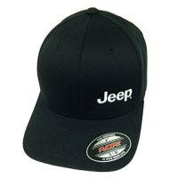 Jeep Black Flexfit Cap w/ White Jeep Logo