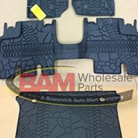 2016 Jeep Wrangler Unlimited 4-Door Slush Mats Cargo Mat Kit OEM All Weather Mopar 82213860 82213184