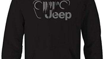a091bb03a Stealth -Jeep Vintage Off Road Grill Logo JK TJ CJ Sweatshirt - Xlarge