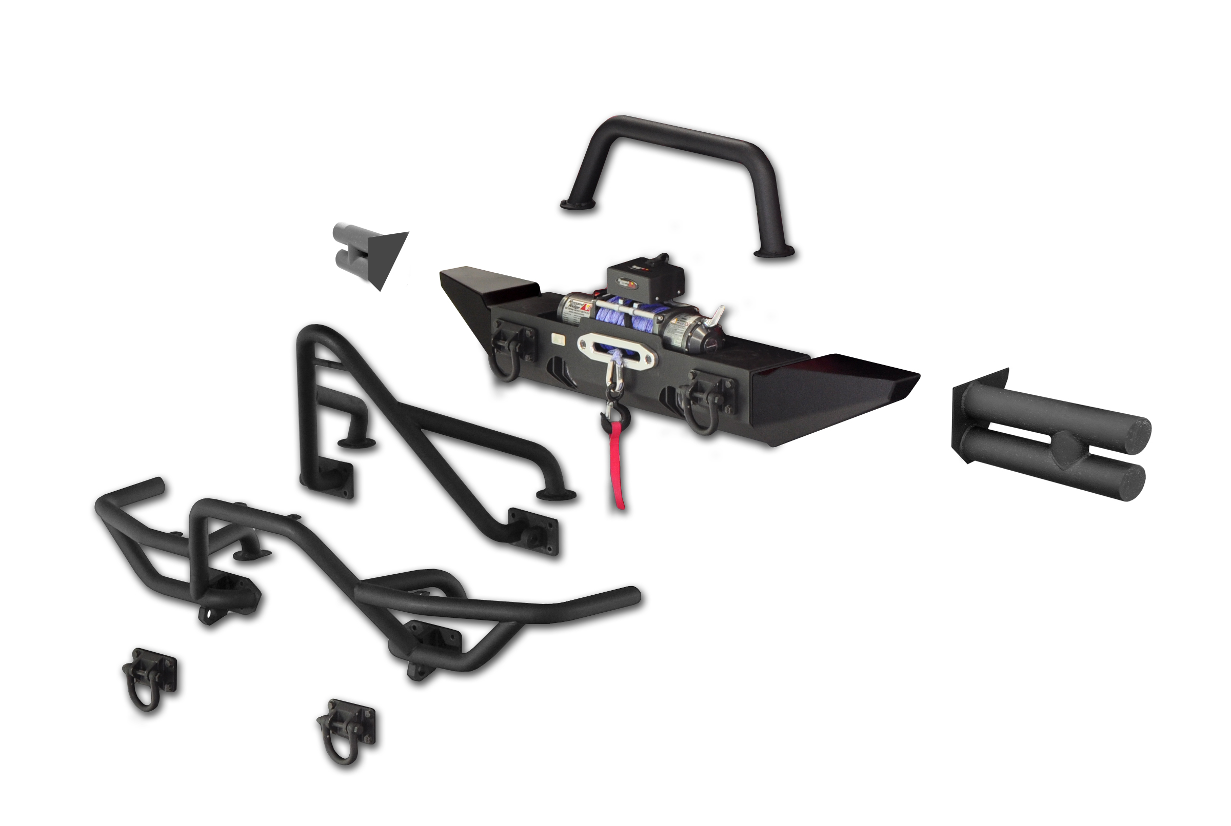 jeep bumpers and tire carriers