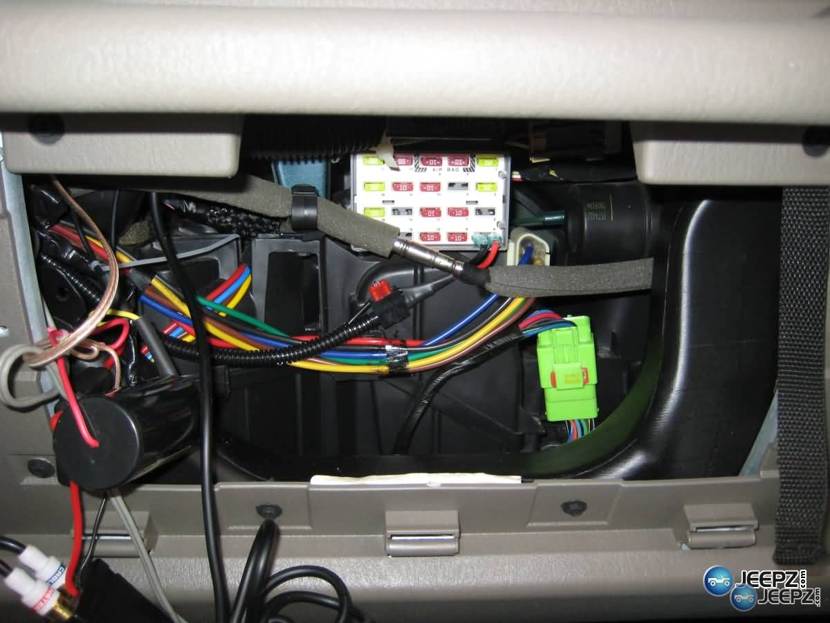 2008 Jeep Wrangler Radio Wiring Harness Radio Install On A Wrangler