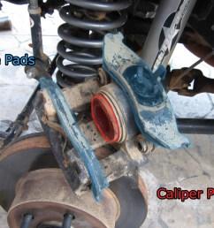 jeep brake pad change 7 wrangler caliper parts jpg [ 2000 x 1500 Pixel ]