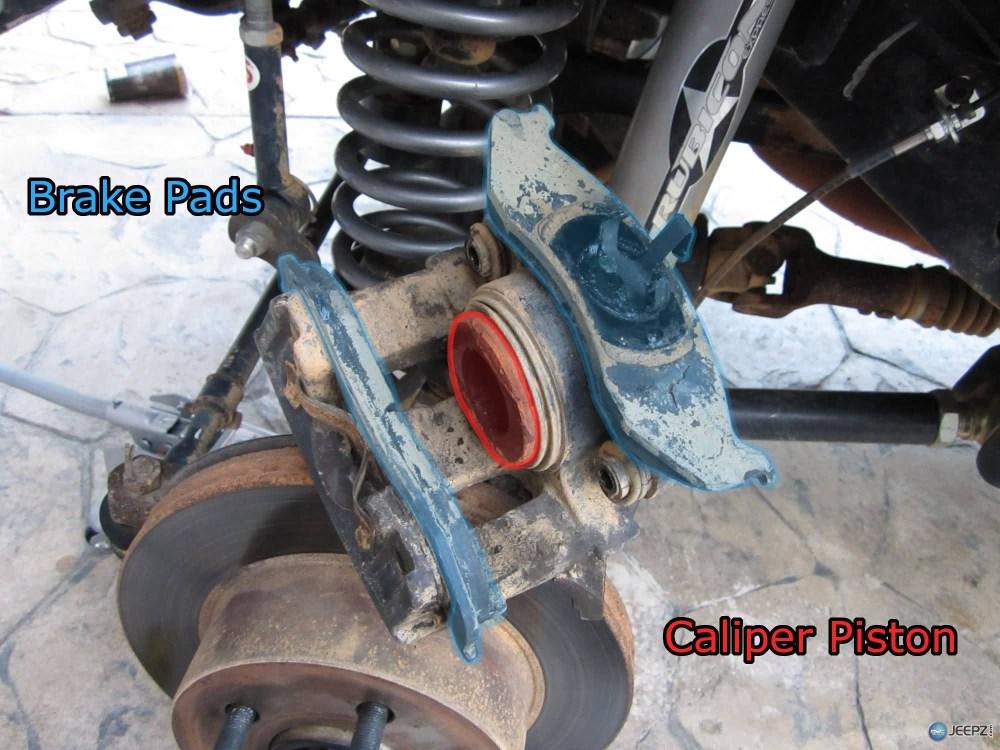 medium resolution of jeep brake pad change 7 wrangler caliper parts jpg