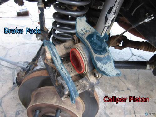 small resolution of jeep brake pad change 7 wrangler caliper parts jpg
