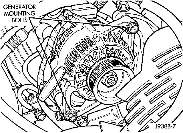 Service manual [1996 Jeep Cherokee Alternator Removal