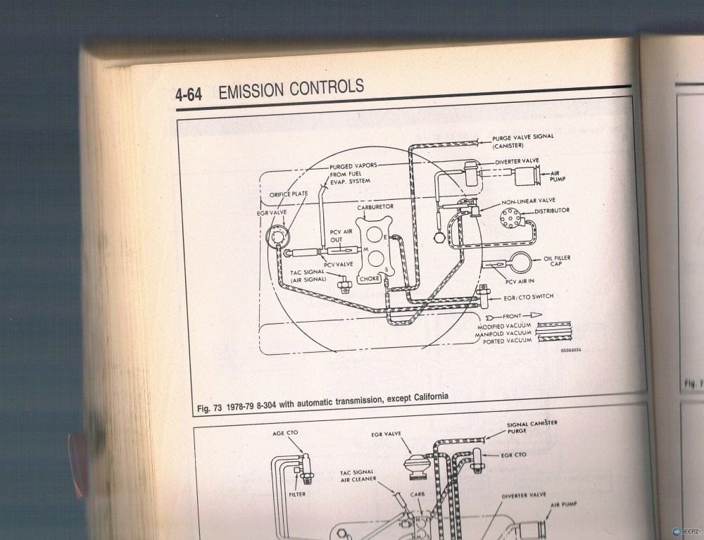 medium resolution of 304 v8 fuel and vac lines underhood jeep cj5 304 vacuum diagram