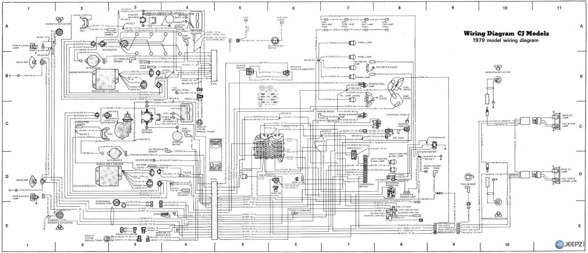 hight resolution of cj5 wiring diagram 2008 jeep cherokee black and white 2001 grand cherokee