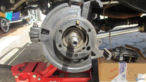 small resolution of wrangler tj wheel hub bearing assembly replacement 14 install brake shield