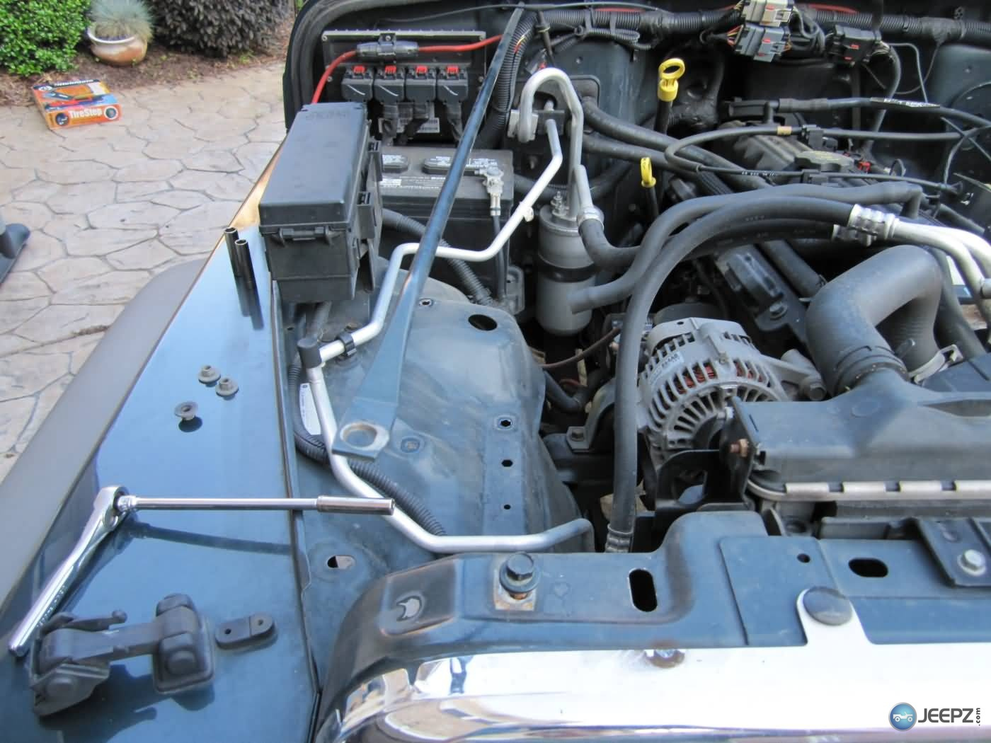 hight resolution of install a cold air intake on a jeep wrangler tj 10 remove engine