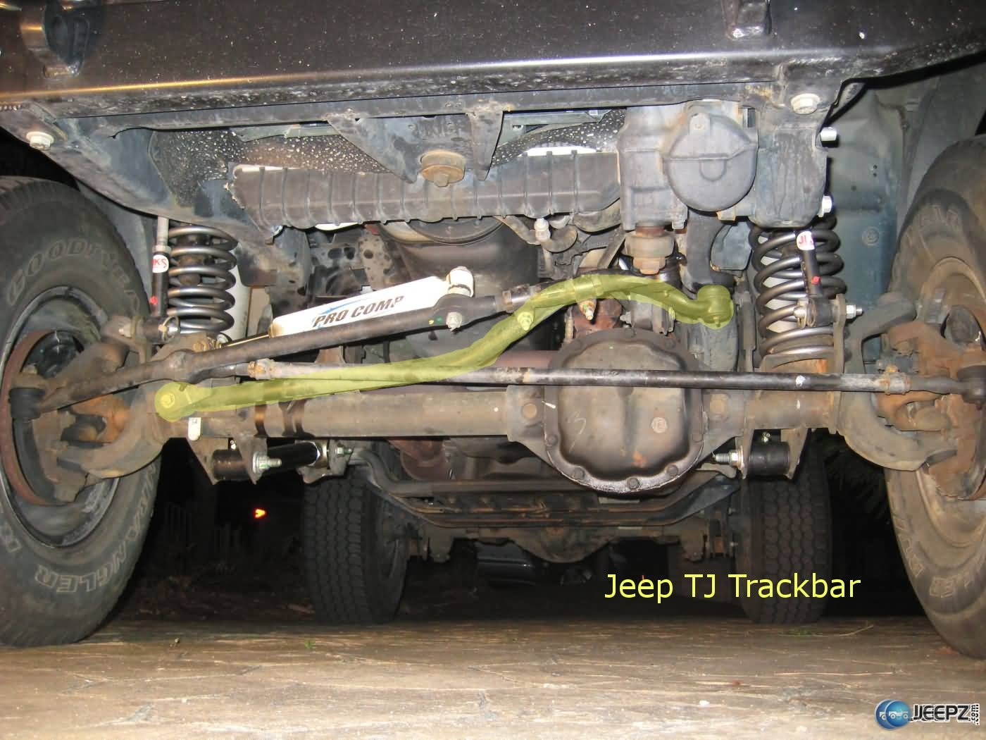 hight resolution of wrangler death wobble what causes it and how to fix it wrangler trackbar jpg
