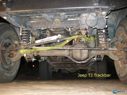 small resolution of wrangler death wobble what causes it and how to fix it wrangler trackbar jpg