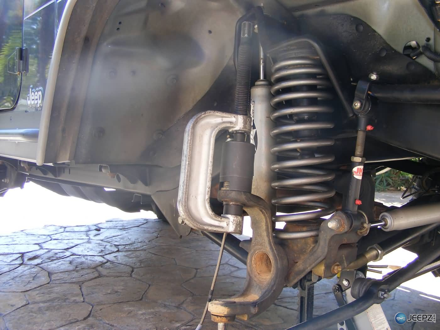 hight resolution of jeep wrangler ball joint replacementjeep wrangler ball joint replacement 12 pressing out upper ball