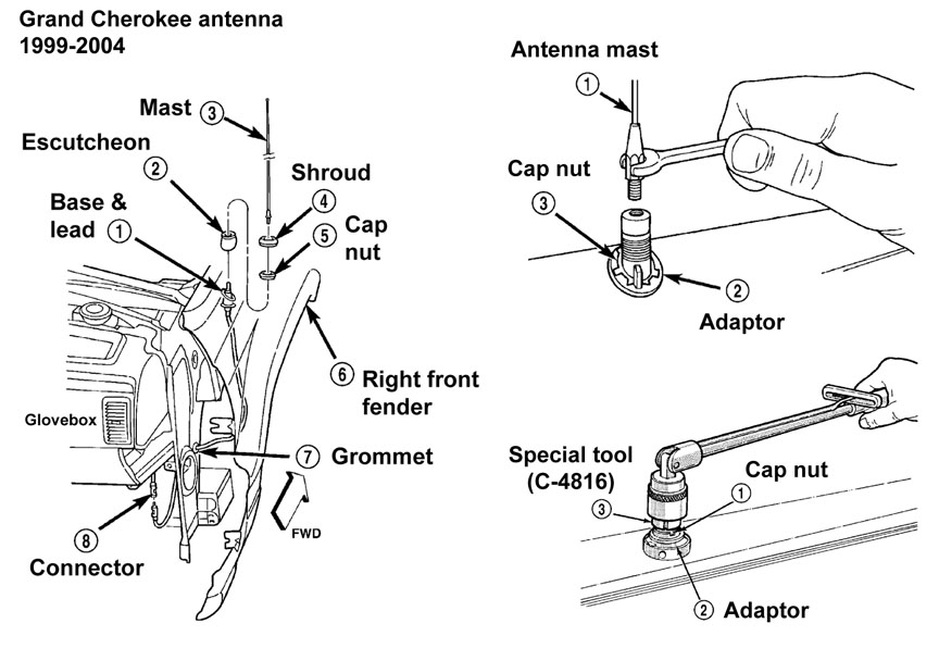 Service manual [How To Remove Antena On A 2005 Maserati