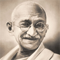 Mahatma Gandhi, our inspiration.