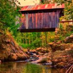 New England Photography of Stowe covered bridge