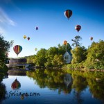 New England Photography of the Quechee Balloon festival