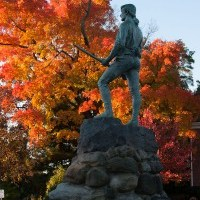 Lexington Mass. fall foliage does history right