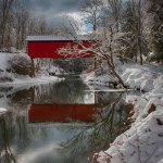 New England Photography of Slaughterhouse covered bridge
