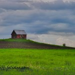 New England photography of the Vermont barn on the hill