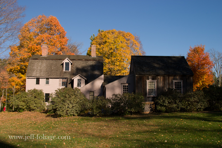 Ralf Waldo Emerson's Old Manse next to the Old North Bridge in Concord