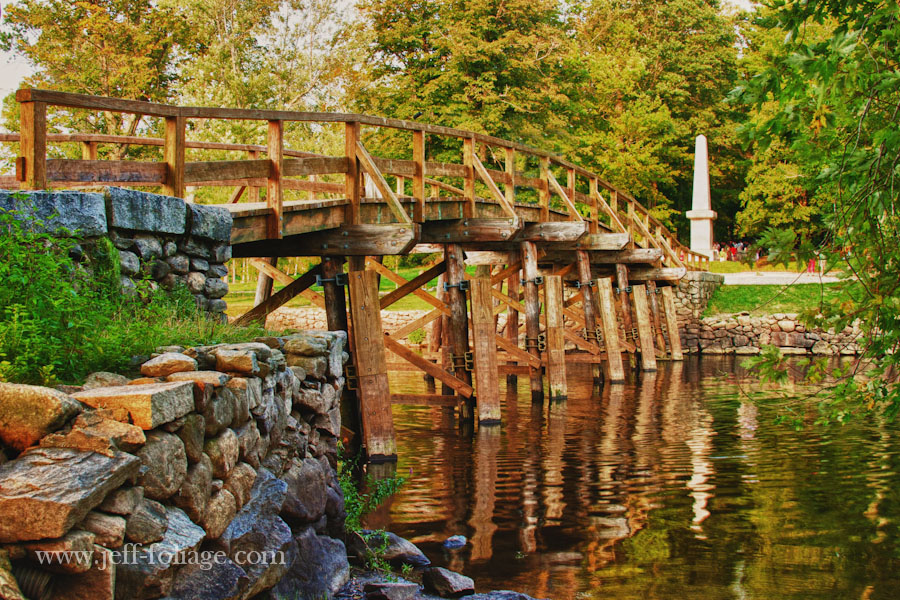 Old North Bridge in Concord Massachusetts in HDR during a September visit