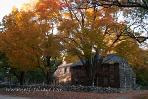New England fall foliage over the Hartwell tavern