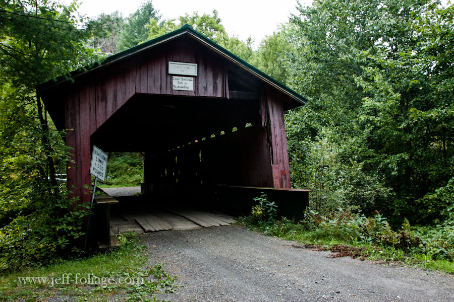 The Hutchens covered bridge off the old Hutchens road