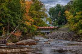 Sacco River covered bridge in Conway New Hampshire
