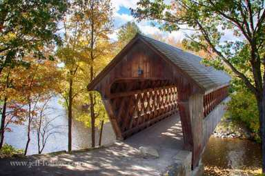 Henniker covered bridge in Henniker NH