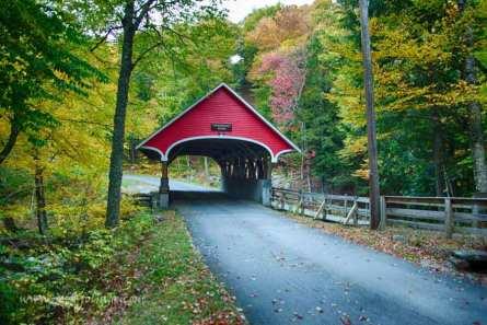 Franconia Notch State Park , Flume gorge covered bridge