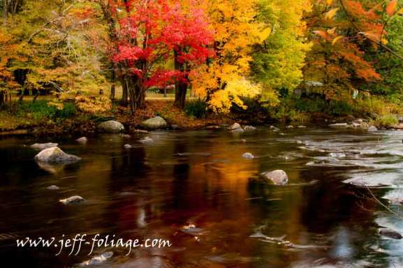 A river near Peterborough NH on 9 Oct 2008