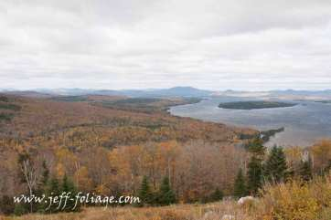 scenic Maine drive around Rangeley Lake Maine