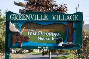 greenville Maine welcome sign