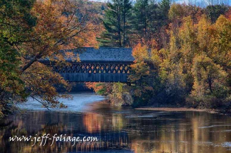 Henniker Covered bridge in autumn with the fall colors a bit past but nice