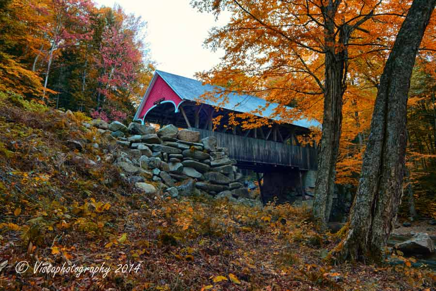 Fall White Pumpkins Wallpaper Fall Foliage Franconia Notch Amp Flume Gorge Covered Bridge