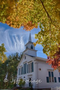 Church in Massachusetts for autumn vacation