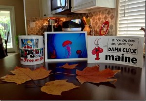 photo of gifts won by Sharon