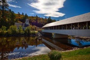 Stark covered bridge and church