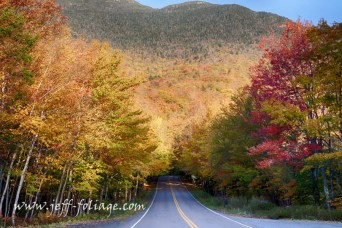 Entering Smuggler's Notch under peak fall foliage